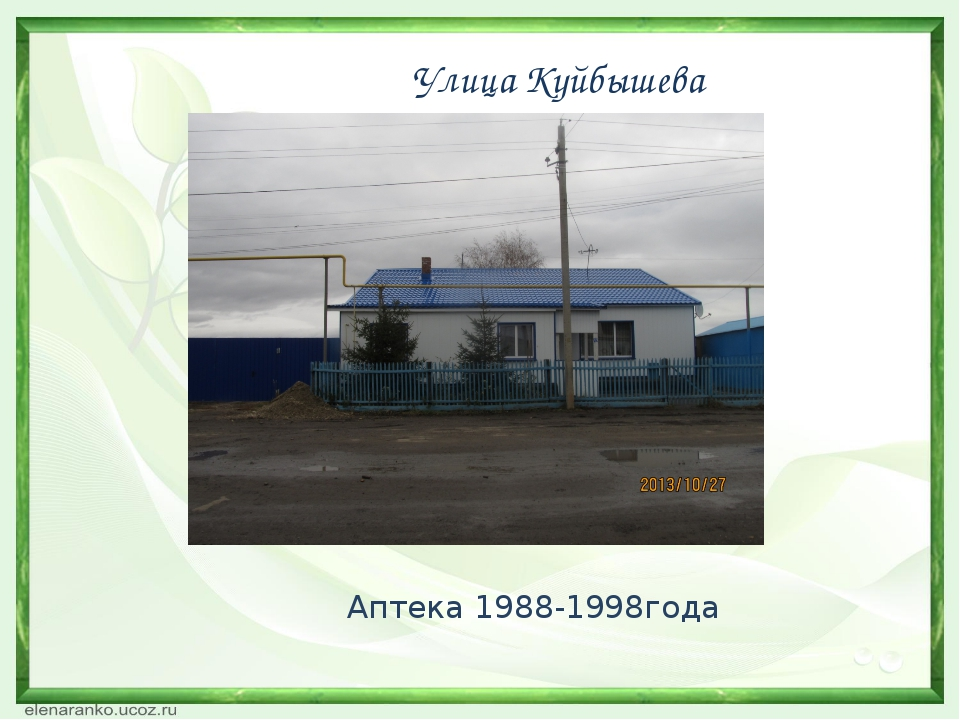Улица Куйбышева Аптека 1988-1998года