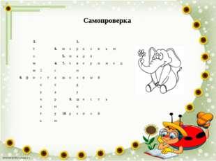 Самопроверка 3.1. т6.морковью