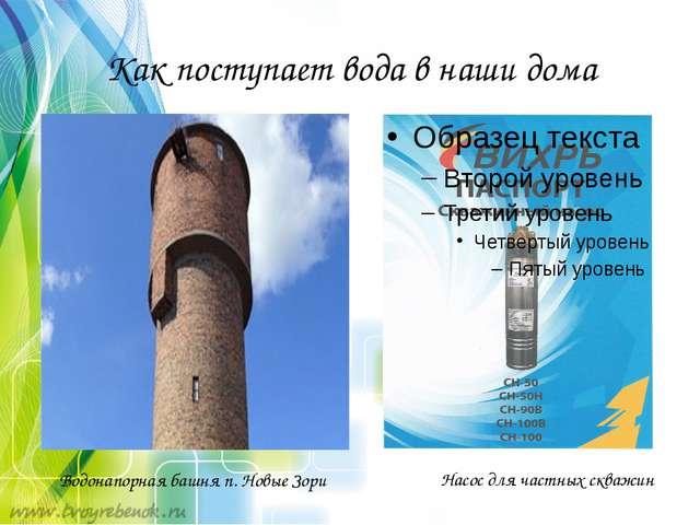 Как поступает вода в наши дома Насос для частных скважин Водонапорная башня п...