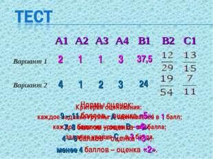 2 1 1 4 3 2 1 37,5 3 24 Критерии оценивания: каждое задание группы А оценивае
