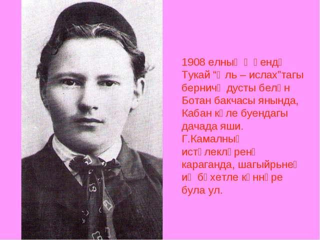 """1908 елның җәендә Тукай """"Әль – ислах""""тагы берничә дусты белән Ботан бакчасы я..."""