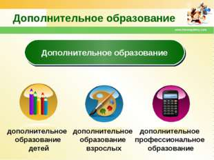 www.themegallery.com Дополнительное образование Дополнительное образование до