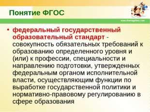 www.themegallery.com Понятие ФГОС федеральный государственный образовательный