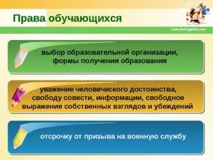 www.themegallery.com Права обучающихся выбор образовательной организации, фор