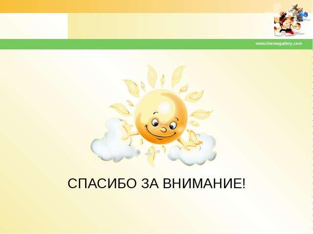 СПАСИБО ЗА ВНИМАНИЕ! www.themegallery.com www.themegallery.com