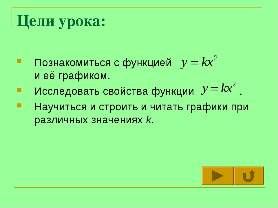 Цели урока: Познакомиться с функцией и её графиком. Исследовать свойства функ...