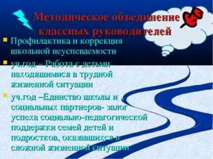 Методическое объединение классных руководителей Профилактика и коррекция школ