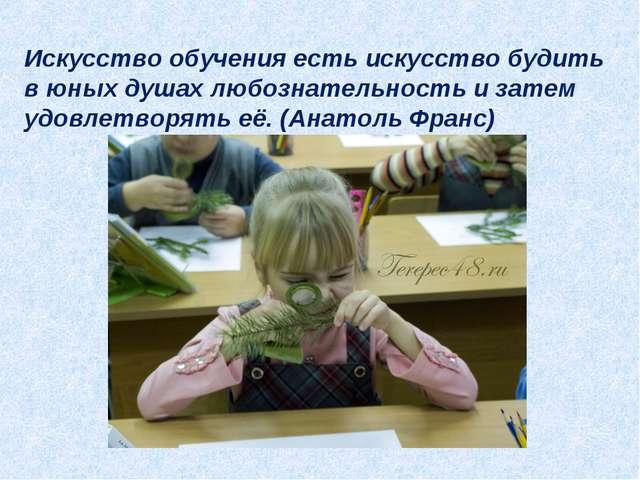 Искусство обучения есть искусство будить в юных душах любознательность и зате...