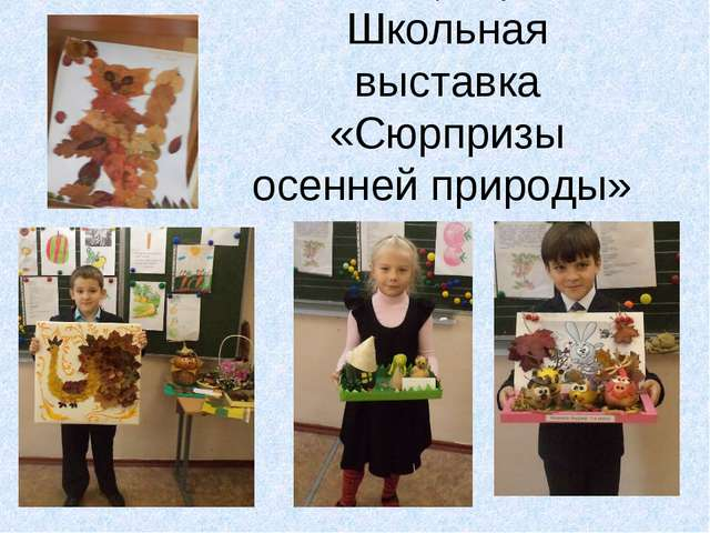 Реализация проекта Школьная выставка «Сюрпризы осенней природы»