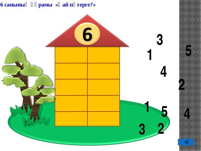 3 3 1 1 5 5 2 2 4 4 6 санының құрамы «Қай пәтерге?»