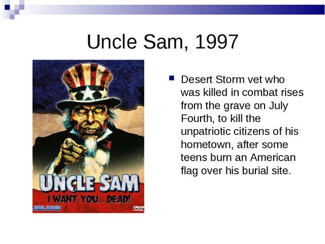 Uncle Sam, 1997 Desert Storm vet who was killed in combat rises from the grav...