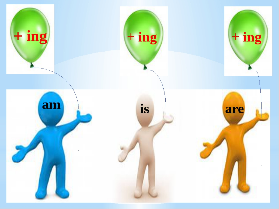 am + ing + ing + ing is are
