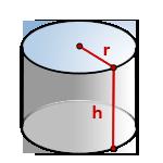 Как вычислить объем цилиндра ?