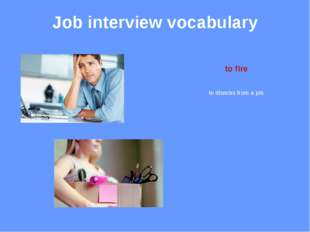 Job interview vocabulary duties responsibilities