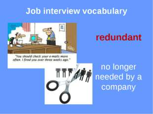 Job interview vocabulary employee someone who works for you