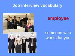 Job interview vocabulary qualifications degrees, certificates, professional t