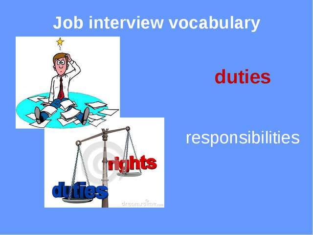 Job interview vocabulary recruit a new employee