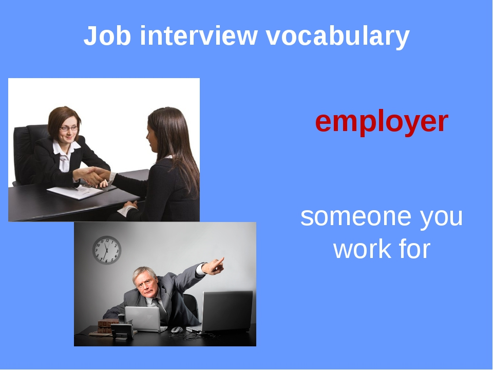 Job interview vocabulary perks good things about a job