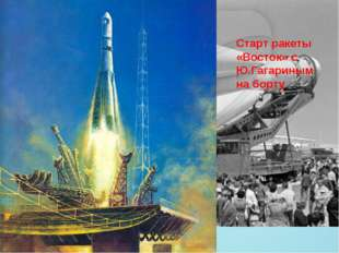 Старт ракеты «Восток» с Ю.Гагариным на борту