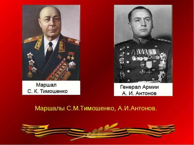 Маршалы С.М.Тимошенко, А.И.Антонов.