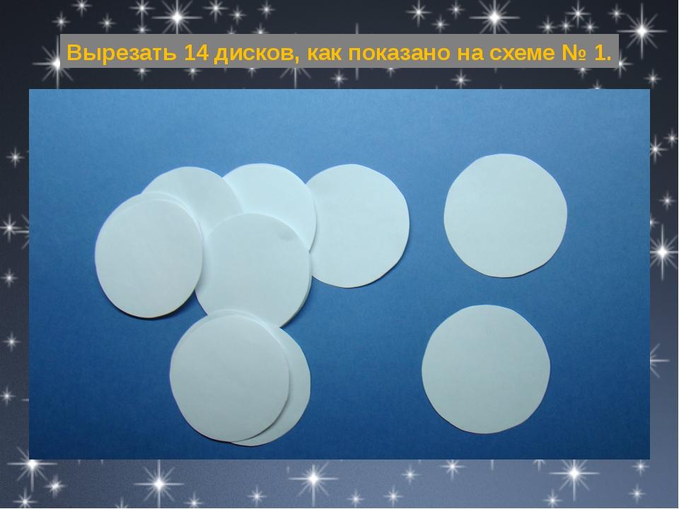 Вырезать 14 дисков, как показано на схеме № 1.