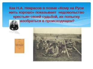 Как Н.А. Некрасов в поэме «Кому на Руси жить хорошо» показывает недовольство