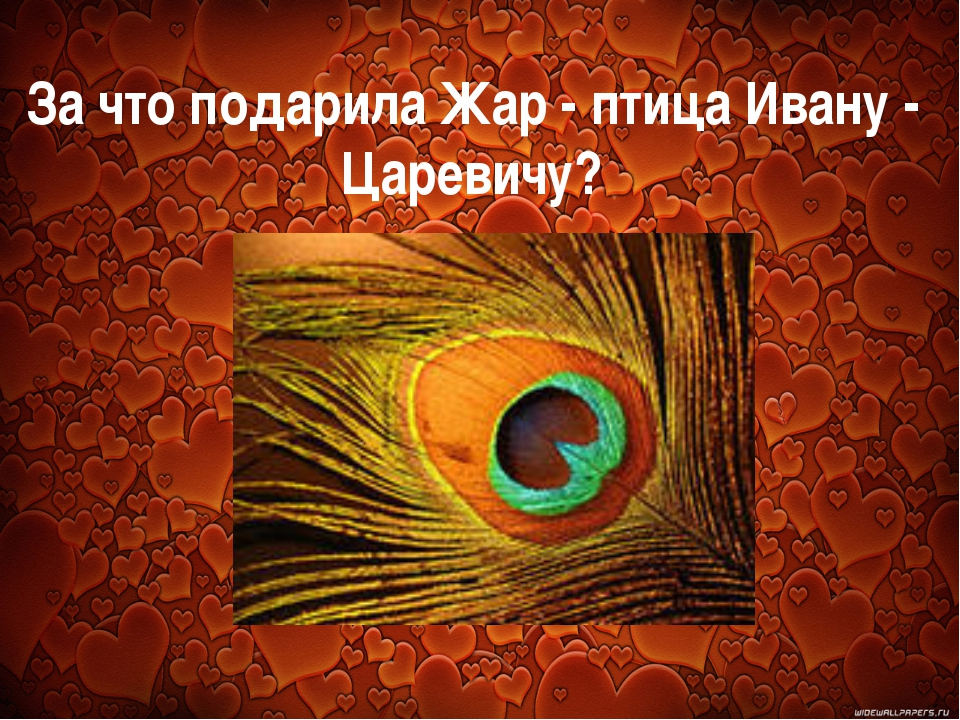 За что подарила Жар - птица Ивану - Царевичу?