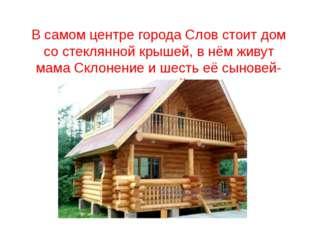 В самом центре города Слов стоит дом со стеклянной крышей, в нём живут мама С