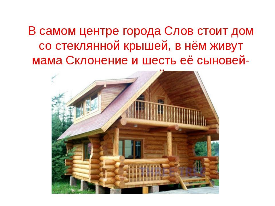 В самом центре города Слов стоит дом со стеклянной крышей, в нём живут мама С...