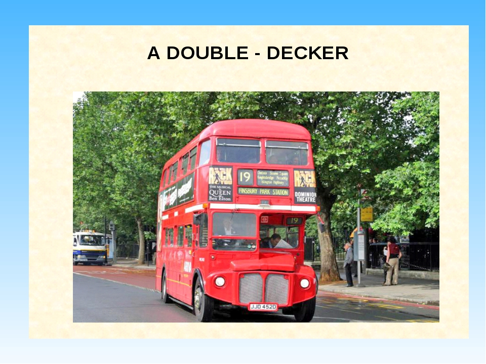 Double decker in London