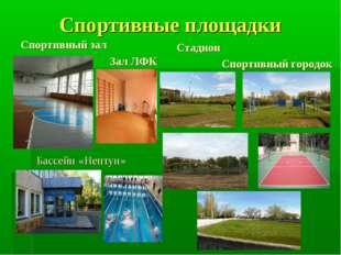 Спортивные площадки Спортивный зал Зал ЛФК Стадион Спортивный городок Бассейн
