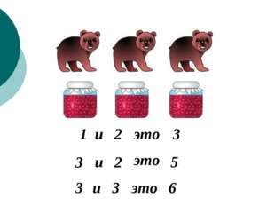 1 и 2 это 3 2 и 3 это 5 3 3 и это 6