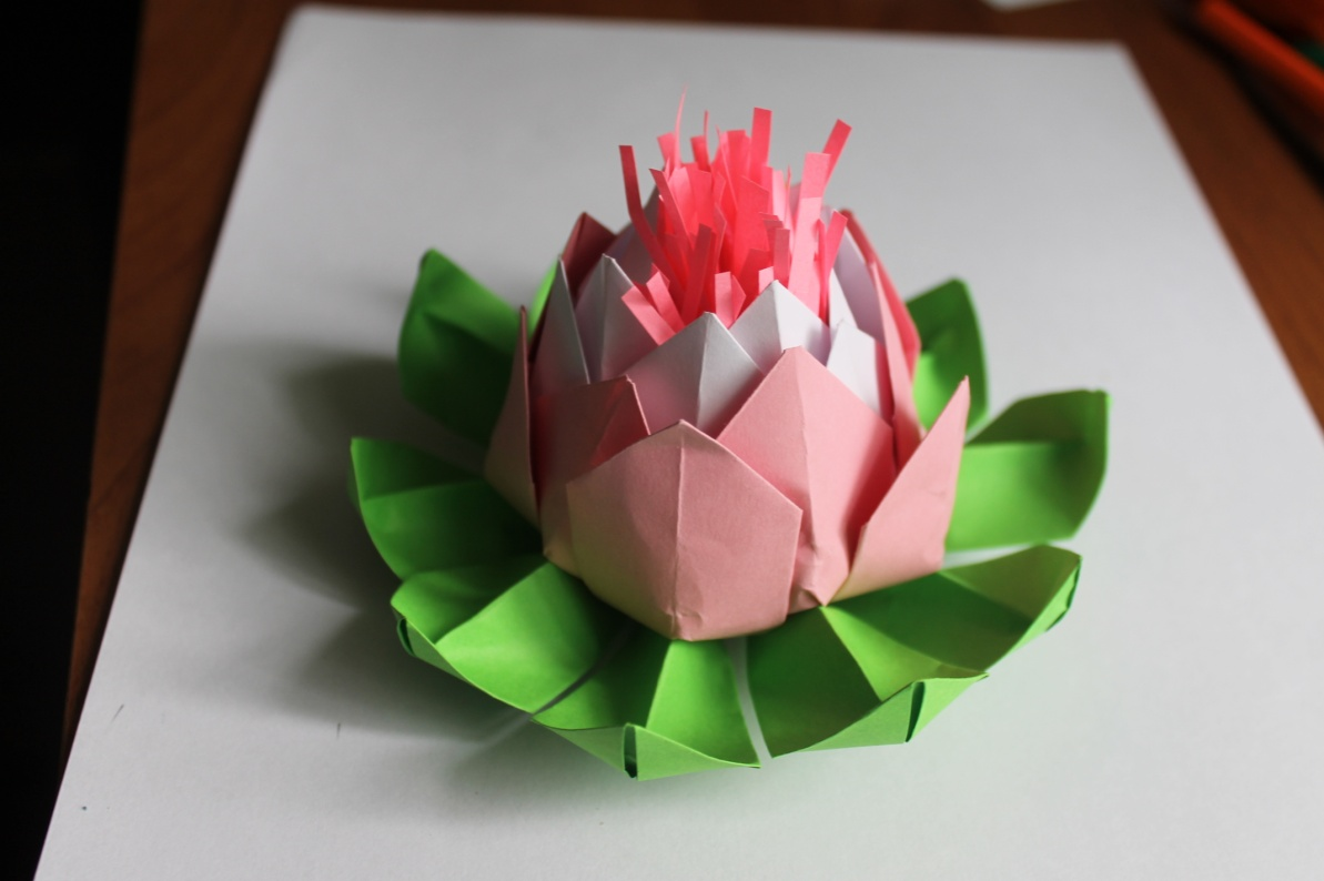 Лилии оригами мастер класс