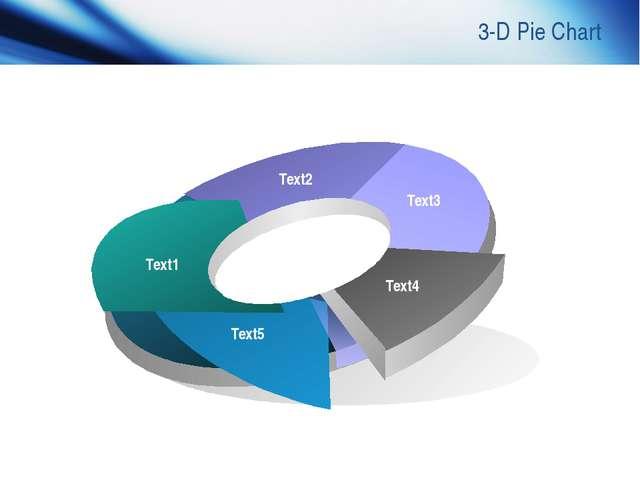 www.themegallery.com Company Logo 3-D Pie Chart Text1 Text2 Text3 Text4 Text5