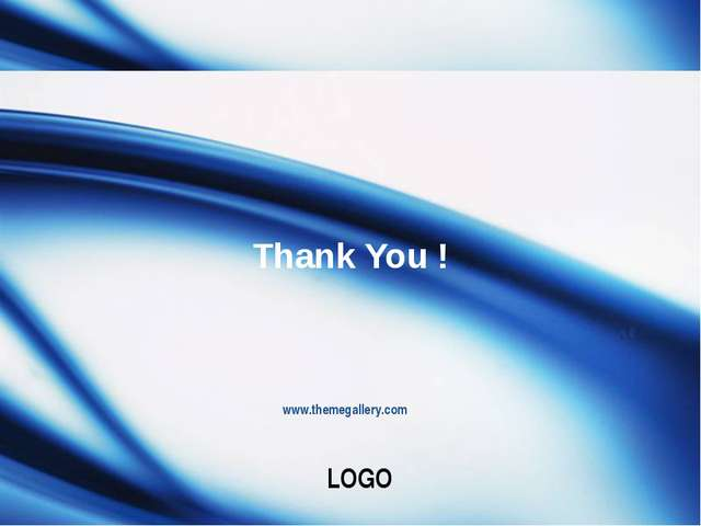 www.themegallery.com Thank You ! LOGO