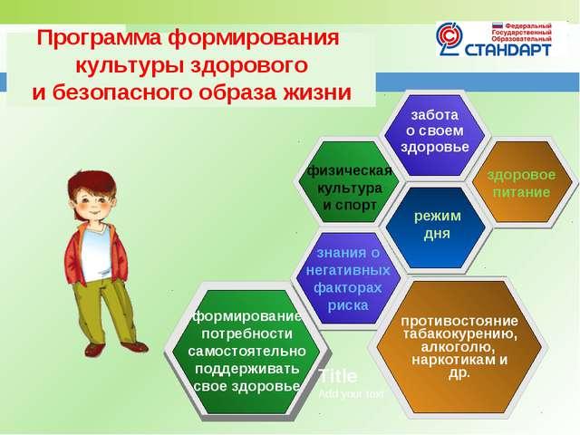 Программа формирования культуры здорового и безопасного образа жизни противос...