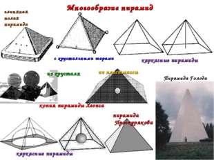 Многообразие пирамид глиняная полая пирамида каркасные пирамиды копия пирамид