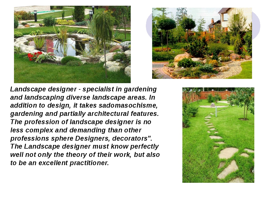 Landscape designer - specialist in gardening and landscaping diverse landscap...
