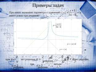 При каких значениях параметра a уравнение  имеет ровно три решения? Ответ: