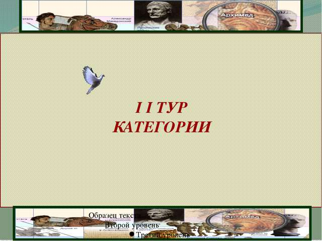I I ТУР КАТЕГОРИИ