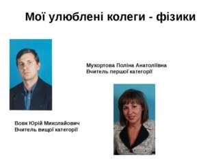 Вовк Юрій Миколайович Вчитель вищої категорії Мухортова Поліна Анатоліївна Вч