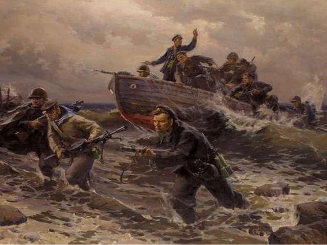740 отважных моряков-черноморцев, прибыв на кораблях из осажденного Севастоп...