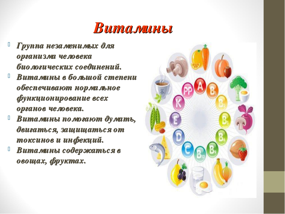 Витамины Группа незаменимых для организма человека биологических соединений....