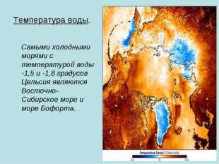 Температура воды. Самыми холодными морями с температурой воды -1,5 и -1,8 гра