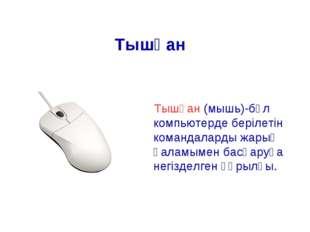 Тышқан (мышь)-бұл компьютерде берілетін командаларды жарық қаламымен басқаруғ
