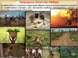 Природные богатства Африки Крайняя бедность огромных территорий Африки поверх