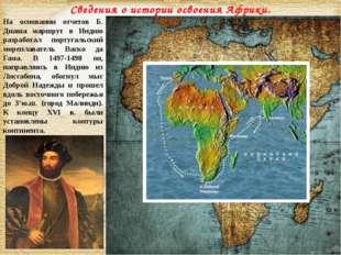 На основании отчетов Б. Диаша маршрут в Индию разработал португальский морепл