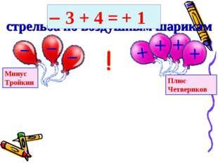 Финал конкурса стрельба по воздушным шарикам Минус Тройкин Плюс Четвериков 