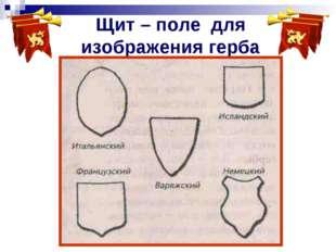 Щит – поле для изображения герба