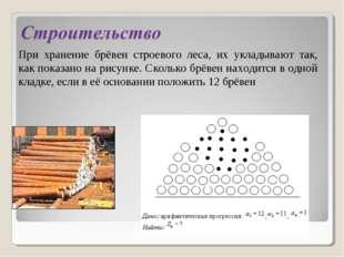 При хранение брёвен строевого леса, их укладывают так, как показано на рисунк